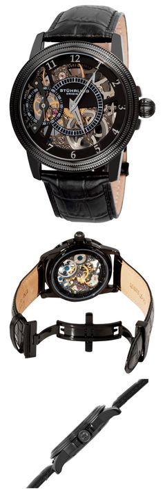 Stuhrling Men's 228.33551 Symphony Saturnalia Brumalia Skeleton Watch