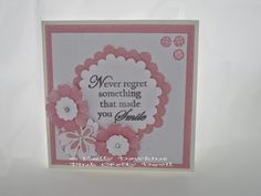 Never Regret - stamped card using Bee Craft Stamp, Never Regret!