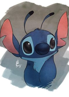 Stitch looking cute.