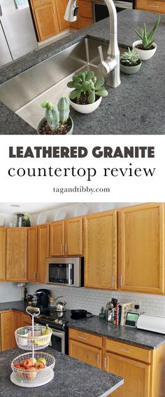 leathered granite has a great feel, modern look, and is budget friendly. It is a durable product and the texture is unique. #granitecountertop #kitchen #leatheredgranite
