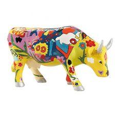 Cow Parade kunstkoe #Groovy Moo kleurrijk