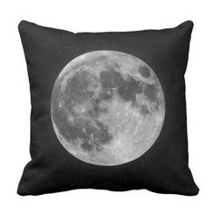 Stark Moon Throw Pillow - black and white gifts unique special b&w style