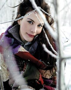 I love her, I love the snow and I am in love with the color in this photo
