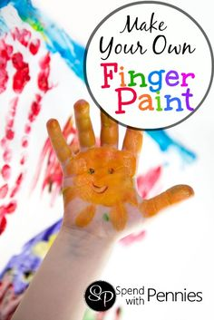 How to Make Homemade Finger Paints!  Such a fun activity for little hands! :)