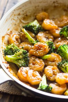 Easy Honey Garlic Shrimp and Broccoli