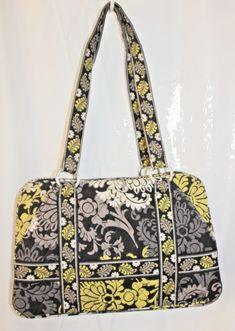 920159eb87 Vera Bradley Bag Betsy Baroque Black Retired Gray Yellow Medium Shoulder Bag  New  VeraBradley