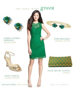 Green Bow Back Dress for a Wedding Guest