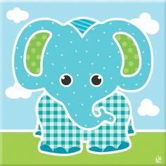 http://kinderkamerkadootje.nl/kinderkamer-schilderij-olifant-turqoise-groen