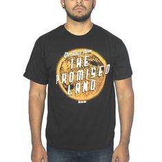 Doctor Who The Promised Land Men's Black T-shirt. Black short sleeve tee, crew neck with Dr Who's The promise land quote and graphic. 100% Licensed and Authentic.