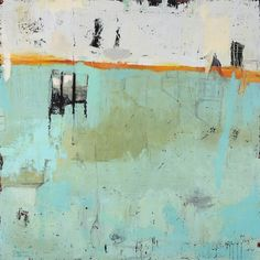 Places of Struggle - Molly Geissman - Mixed Media Encaustic Painting