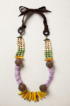 Tagua Talisman Necklace- Very Josephine Baker!  #anthrofave