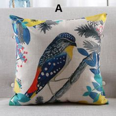 Bird pillow Pastoral Art Animal decorative pillows Hand painted style