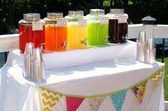 rainbow drink bar Second Birthday Ideas, 15 Birthday, My Little Pony Birthday, My Little Pony Party, 4th Birthday Parties, Rainbow Dash Birthday, Rainbow Dash Party, Girls Pirate Parties, Pirate Party