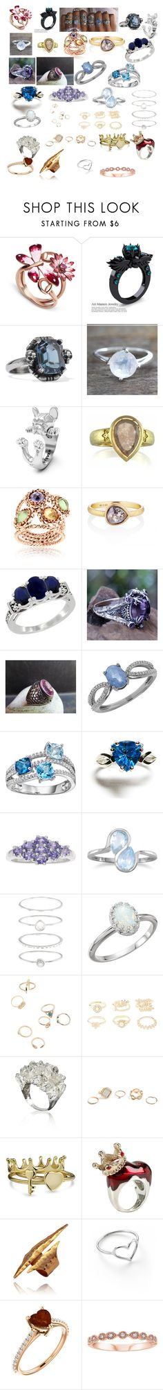 """""""Coolest and Prettiest Rings"""" by obrienmarygrace ❤ liked on Polyvore featuring Gucci, NOVICA, Alexander McQueen, Luca Jouel, West Coast Jewelry, Lord & Taylor, BillyTheTree, Accessorize, Charlotte Russe and GUESS"""