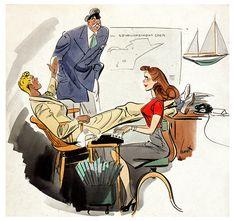 Cartoon Retro: Earl Oliver Hurst, Collier's Magazine