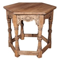 Oak Jacobean Center Table   From a unique collection of antique and modern center tables at https://www.1stdibs.com/furniture/tables/center-tables/