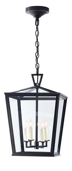 DARLANA SMALL OUTDOOR HANGING LANTERN front portico, retail $1,050