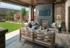 A secluded patio for backyard entertaining at Querencia Community in Peoria. #Arizona #MeritageHomes