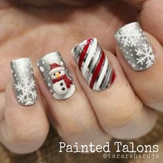 Cable Knit Nails The Latest Trend This Season – Stylendesigns 21 Fabulous and Easy Christmas Nail Designs: Fashionable Silver Nail Design for Christmas Related posts:Christmas Nail Art Designs To Look Trendy This Season. Silver Nail Designs, Holiday Nail Art, Christmas Nail Art Designs, Winter Nail Art, Cute Nail Designs, Christmas Ideas, Christmas Design, Nail Art For Christmas, Christmas Manicure
