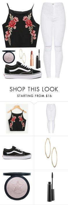"""""""Laugh through your tears"""" by tigerlily789 ❤ liked on Polyvore featuring Vans, Lydell NYC, Charlotte Tilbury and MAC Cosmetics"""