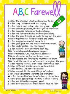 cute more preschool graduation kindergarten poem kindergarten ...