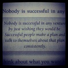 Successful people make a plan..