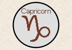 Capricorn Zodiac Horoscope Sign Easy Cross Stitch