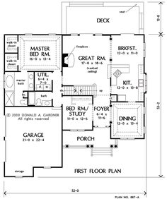 Home Plan The Holly Fern by Donald A. Gardner Architects