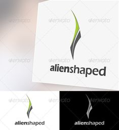 Alienshaped Logo Template — Vector EPS #modern #abstract • Available here → https://graphicriver.net/item/alienshaped-logo-template/2346860?ref=pxcr