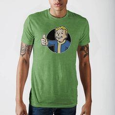 Fallout Vault Boy Charcoal Heather Adult T-Shirt X-Large