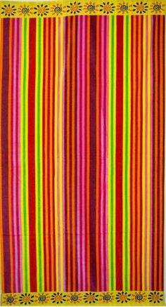"""English Pastel Stripe"" 40x70 Egyptian cotton Beach Towel Scotts-sales.com"
