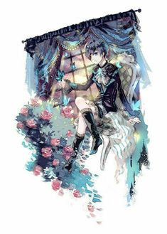 ♚His Butler, Ravenous♞: Photo Cute Anime Boy, Anime Guys, Manga Anime, Anime Art, Ciel Anime, Grell Black Butler, Black Butler Kuroshitsuji, Claude Faustus, Ciel E