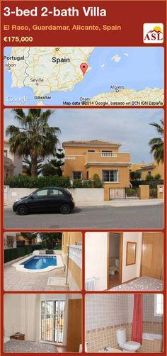 3-bed 2-bath Villa in El Raso, Guardamar, Alicante, Spain ►€175,000 #PropertyForSaleInSpain