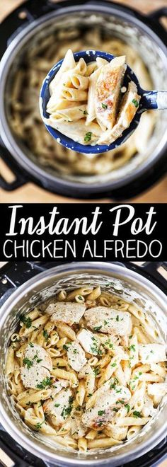 Instant Pot Chicken Alfredo Pasta Instant Pot Chicken Alfredo Pasta (next time add less broth and cook shorter time. Also cook broccoli on steaming rack high setting) More from my site Instant Pot Chicken Parm Pastta Pollo Alfredo, Yummy Recipes, Cooking Recipes, Healthy Recipes, Recipies, Pasta Recipes, Cooking Games, Simple Delicious Recipes, Gastronomia