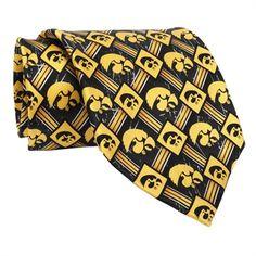 Eagles Wings University of Iowa Hawkeyes Logo Woven Silk Tie #VonMaur #Ties #UofI