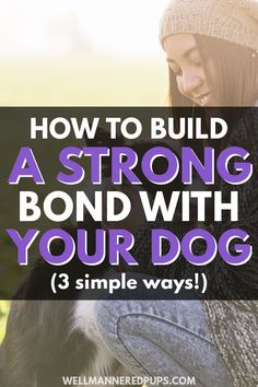 How to build a strong bond with your dog as a new dog owner. Here are 3 simple ways to start bonding with your new pup! Dog Health Care, Cat Health, Puppy Care, Dog Care, Cat Care Tips, Pet Tips, Dog Biscuit Recipes, Best Bond, Online Pet Store