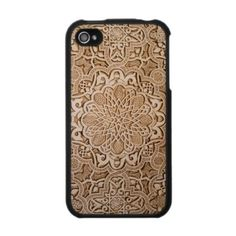carved-wood iPhone cover. amazing