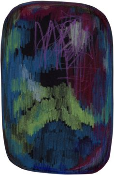 Scribble Black / Green / Blue Rug by Front