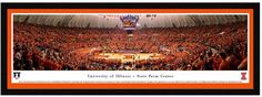 Blakeway Worldwide Panoramas Illinois Fighting Illini Basketball Arena Framed Wall Art