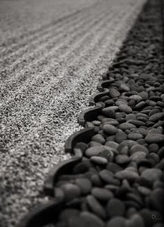 Japanese Zen Garden, Closeup photo by: Tan Guero