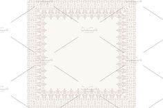 Oriental vector pink frame with damask, arabesque and floral pattern. Damask Patterns, Arabesque, Monochrome, Oriental, Ornaments, Abstract, Frame, Floral, Pink