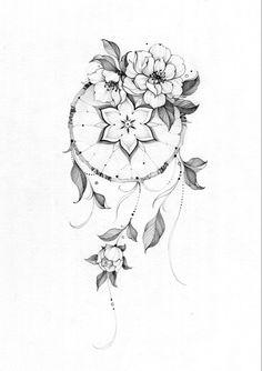 Atrapasueños Tattoo, Leg Tattoos, Cute Tattoos, Beautiful Tattoos, Flower Tattoos, Body Art Tattoos, Girl Tattoos, Flower Tattoo Drawings, Tattoo Design Drawings