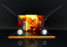 Stand design City Interactive by justyna podczasi, via Behance