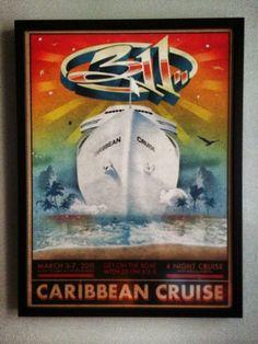 311 Caribbean Cruise 2011 poster framed by Klawson Borges. #311 #caribbeancruise #cruise #sxmliveloud #sixthman #vacation