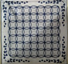 Blue and white Pickle Dish with bluework embroidery. 2012 Tokyo International Quilt Festival..