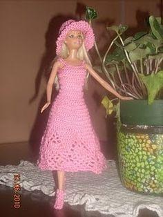 vestidos para barbie a crochet en pinterest - Google Search