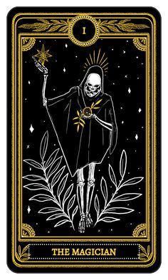 The Magician from the Major Arcana of the Marigold Tarot