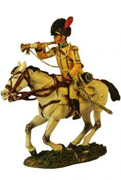Трубач, Британских легких драгун,1808 г. Del Prado Cavalry №102