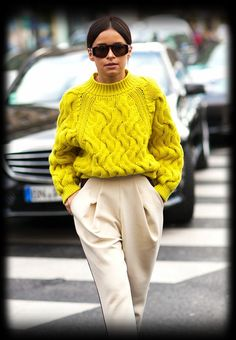 Bright, colourful knits for August attire #winterfashion