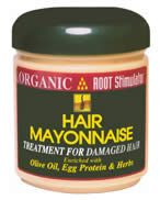 """Organic ROOT Stimulator Hair Mayonnaise - My """"OTC"""" deep conditioner. I used it for styling when I was two strand twisting."""